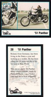 Daytona Beach Biker Week 1951 Panther 600cc Single Cylinder by
