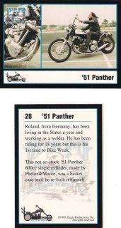 Daytona Beach Biker Week 1951 Panther 600cc Single Cylinder by