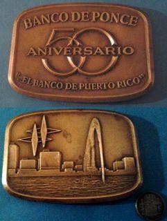 50 Aniv BANCO PONCE PUERTO RICO 1967 Rare Find it closed 1990 MEDALLIC