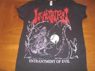 entrantment of evil babydoll girly t shirt black metal death burzum