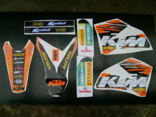 2006 2012 KTM SX 85 ORANGE GRAPHICS STICKER DECAL KIT
