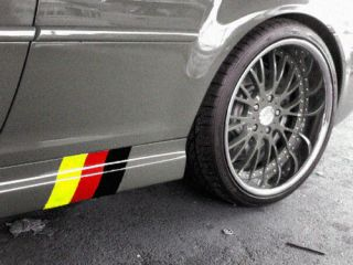 E46 M3 German flag Sideskirt Decal kit FITS VW BMW AUDI MERCEDEZ