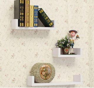 New Wood Wall Shelves TV Book Shelf Display Box Room Home Decor