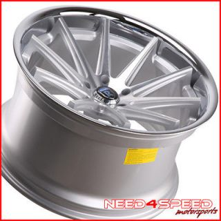 20 NISSAN 370Z ROHANA RC10 DEEP CONCAVE SILVER STAGGERED WHEELS RIMS