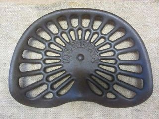 Vintage Deering Cast Iron Tractor Seat Antique Farm Tools Equipment