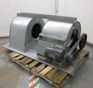 4LX07G 19 Double Centrifugal Fan Squirrel Cage Blower 3 Hp 3 Ph