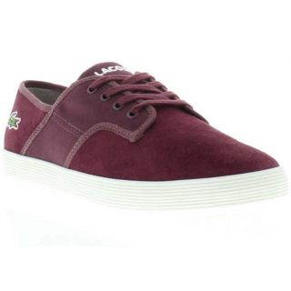 Lacoste Shoes Genuine Andover CI Suede Dark Red Mens Shoes Sizes UK 8