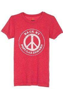 NEW dELiA*s Juniors National Geographic Popular Demand SS Red Tee T