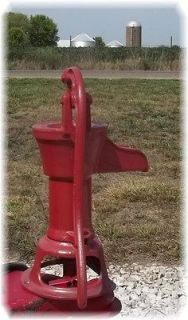 Pitcher Pump Well Water Cast Iron Cistern Red Jacket Garden Farm a