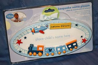 DISNEY BABY BOYS MICKEY MOUSE TRAIN AIRPLANE STARS PERSONALIZE NAME