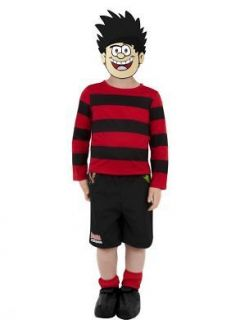 OFFICIAL DENNIS THE MENACE BOYS FANCY DRESS COSTUME