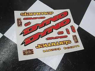 NOS Y/R DYNO SLAMMER Old School BMX Bike GT Freestyle Bicycle Decal