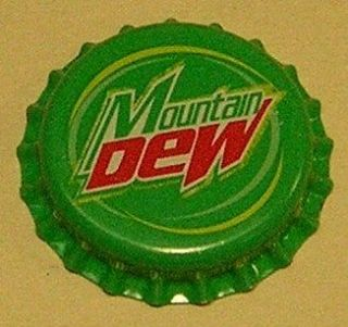VINTAGE Mountain Dewplastic..unusedSODA BOTTLE CAPMint