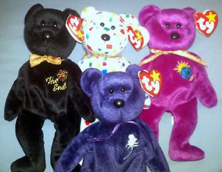 RARE Princess Diana Beanie Babies P.E.Pellets Numbered+Millennium+The