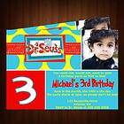 SEUSS CAT AND THE HAT BIRTHDAY PARTY INVITATION PERSONALIZED W PHOTO