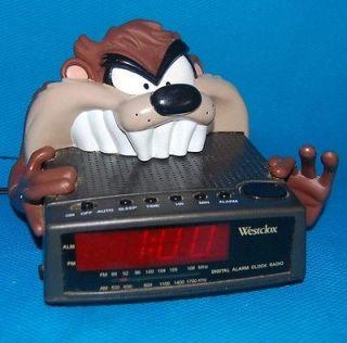 Taz Tazmanian Devil Looney Tunes Vintage Digital Alarm Clock