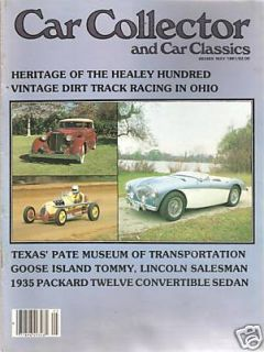 COLLECTOR CAR CLASSICS GOOSE ISLAND TOMMY VINTAGE DIRT TRACK RACING