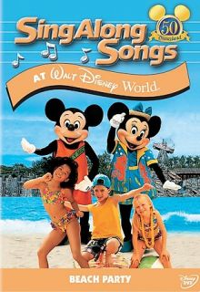 DISNEY SING ALONG SONGS BEACH PARTY AT DISNEY WORLD VHS 786936472134