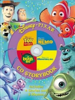 Disney Pixar Storybook Finding Nemo Monsters, Inc. A Bugs Life Toy