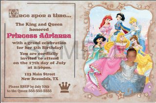 princess invitations in Home & Garden