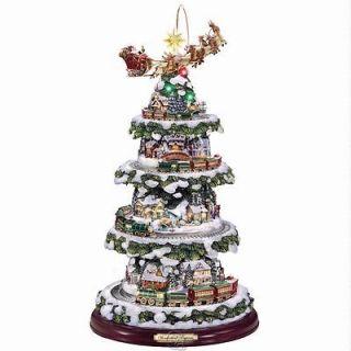 The Thomas Kinkade Animated Christmas Tree 17 Tall Handpainted