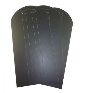 Cardboard Hair Accessories Clips Sleepies Display Cards Plain Black