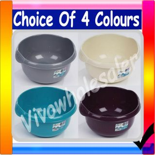 PLASTIC ROUND KITCHEN HOME WASHING UP BOWLS BASIN FOOD STORAGE BOWL