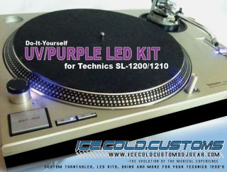 ICE.COLD.CUSTOMS / UV/PURPLE LED KIT x2(SET)Upgrade Technics 1200 1210