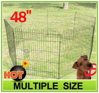 48 8 panel Pet Dog Cat Exercise Pen Playpen Fence Yard Kennel