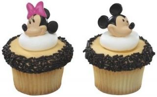 MOUSE Faces HEADS 12 Party CUPCAKE Cake Pop RINGS Favors Toppers