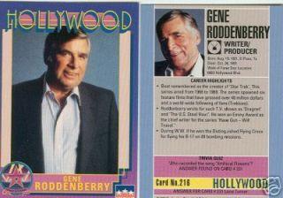 Gene Roddenberry Hollywood Walk Of Fame Card Star Trek