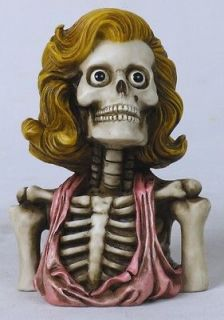 MARILYN MONROE SKELETON SKULL BUST FIGURINE.STATU​E.NEW