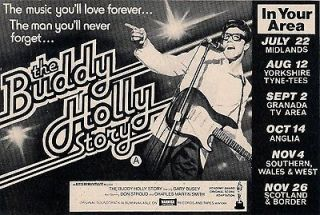 Original Half Page Advert Buddy Holly Story Gary Busey Don Stroud