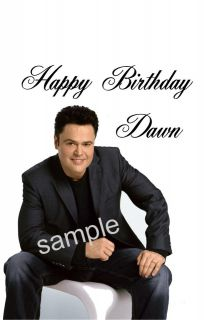 Donny Osmond, Personalised birthday card A5 size