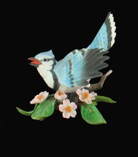 BEAUTIFUL LENOX BLUE JAY PORCELAIN FIGURINE