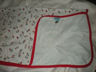 DR SEUSS CAT IN THE HAT THING 1 2 BUMPKINS NUSERY BABY BLANKET LOVEY