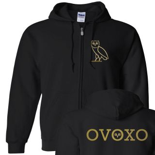 OVOXO Drake Octobers Very Own Full Zip Hooded Sweatshirt OVO Hoodie S