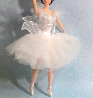 Newly listed BARBIE White beaded & feathered Ballet Costume SWAN QUEEN