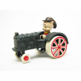 Farmer Driving Collectible Antique Replica Cast Iron Farm Toy Tractor