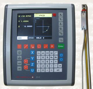 Easson LCD Digital ReadOut 2 axis DRO kit with Glass Scales Mill/Lathe