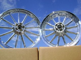 HD DYNA SUPER WIDE GLIDE LOW RIDER CHROME WHEELS RIMS