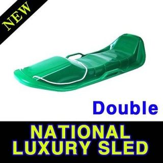 Green High Quality Plastic Double Snow Sled Ready to be a good parents