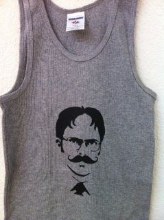 The Office Dwight Schrute With A Mustache Mens Tank Top TShirt Med