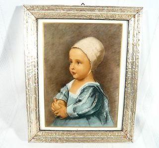 ROSENTHAL Baby Stuart Porcelain Plaque Anton van Dyck Framed Tile Art