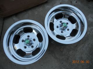 14x8 U.S INDY SLOT MAG WHEELS CHEVY RATROD GASSER MAGS SLOTTED E T