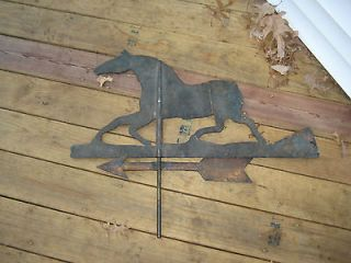 Antique/Vintag​e Folk Art Weathervane of Trotting Horse, Sulky with