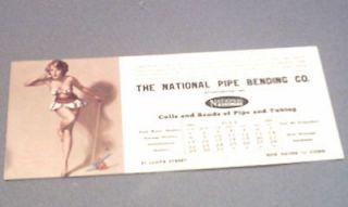 VINTAGE EARL MORAN 1951  MARILYN MONROE  PIN UP INK BLOTTER /NEAR