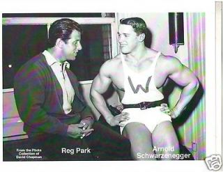 Arnold Schwarzenegger /Reg Park Both Mr Universe Winners Bodybuilding