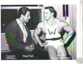 Arnold Schwarzenegger /Reg Park Both Mr Universe Winners Bodybuilding