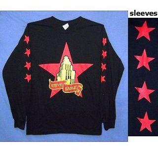 STEVE EARLE 08 STARS LOGO BLACK LONG SLEEVE SHIRT MEDIUM NEW OFFICIAL
